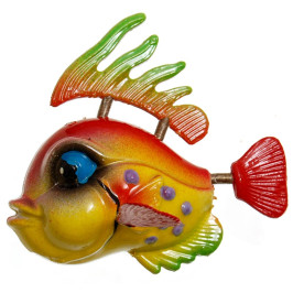 Сувенирна фигурка с магнит - риба - 5