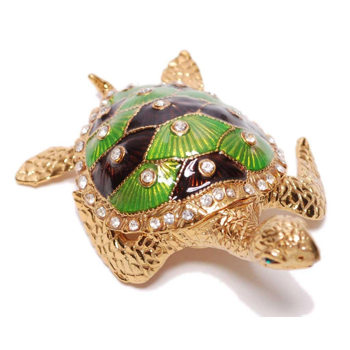 Декоративна кутийка за бижута - костенурка