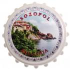Сувенирна отварачка с магнит - капачка - Созопол