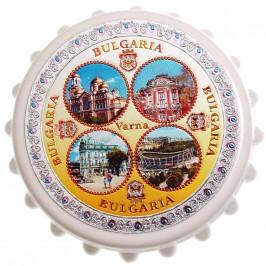 Сувенирна отварачка с магнит - капачка - забележителности от Варна