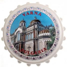 Сувенирна отварачка с магнит - капачка - Варненската катедрала