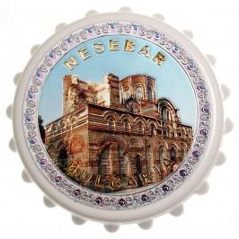 Сувенирна отварачка с магнит - капачка - старинна църква в Несебър