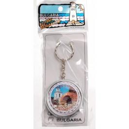 Сувенирен метален ключодържател - джобен пепелник с поставка за цигара