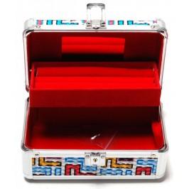 Стилна кутия за бижута декорирана с геометрични мотиви