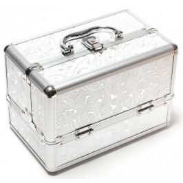 Стилна сребриста кутия за бижута от метал