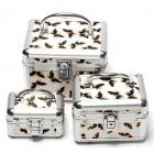 Комплект 3 броя стилни кутии за бижута с ключ