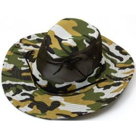 Лятна каубойска шапка - текстил с камуфлажен десен