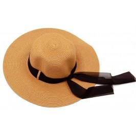Красива дамска шапка с голяма периферия - кафява