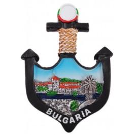 Сувенирна фигурка котва с магнит - България