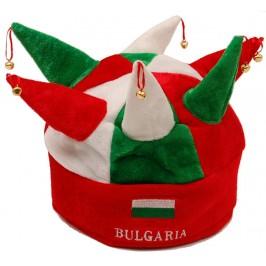 Цветна карнавална шапка в цветовете на българския трикольор