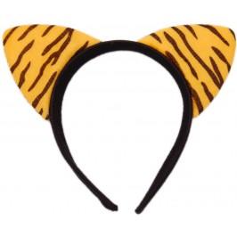 Карнавална диадема - мини уши на тигър от мек полар