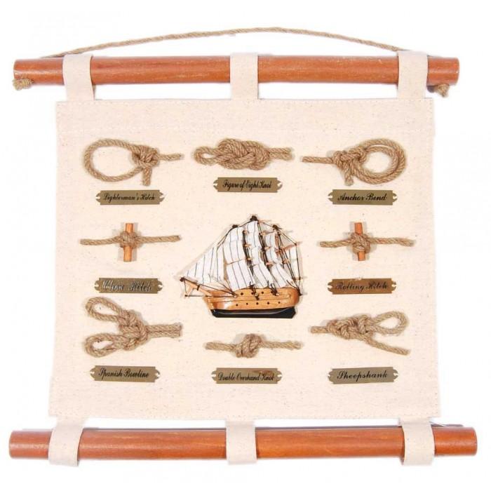 Сувенирно пано с възли и декоративно корабче
