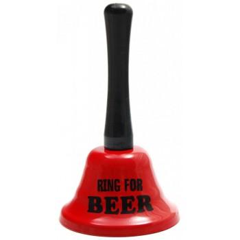 Забавен метален звънец с надпис - Ring for beer