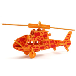 3D пъзел от дърво - хеликоптер