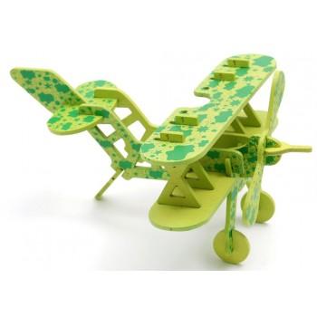 3D пъзел от дърво - самолет