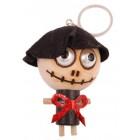 Ключодържател - дървена кукла - горски дух