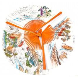 Сувенирно ветрило от дърво и хартия с цветен принт - 30см