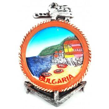 Сувенирна фигурка котва с магнит - морски бряг