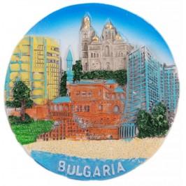 Декоративна релефна фигурка с магнит - забележителности от България