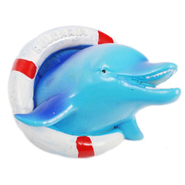 Декоративна магнитна фигурка - делфин със спасителен пояс