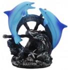 Декоративна фигурка - два делфина върху рул
