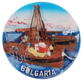 Декоративна релефна фигурка с магнит - лодки