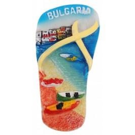 Декоративна гипсова фигурка джапанка с магнит - морски бряг