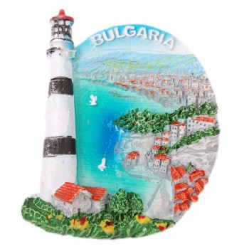 Декоративна фигурка с магнит - морски бряг с фар