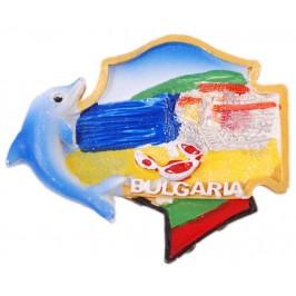 Декоративна гипсова фигурка с магнит - крайбрежие с три лодки