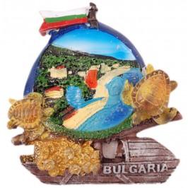 Декоративна гипсова фигурка с магнит - платноходка