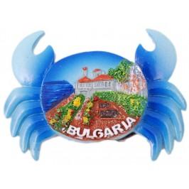 Сувенирна магнитна фигурка във формата на рак - Двореца в Балчик
