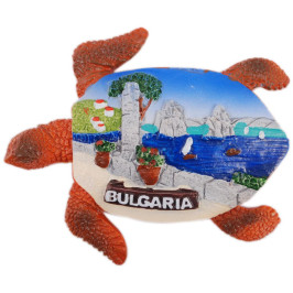 Сувенирна фигурка костенурка с магнит - морска алея