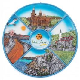 Сувенирна релефна чиния - забележителности от Черноморски градове
