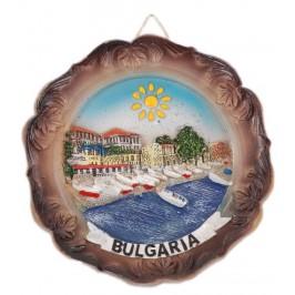 Сувенирна релефна чиния - капитанска среща и надпис България