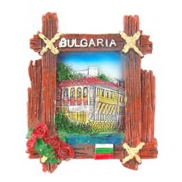 Декоративна фигурка с магнит - стара българска къща, България