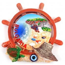 Декоративна релефна фигурка рул с магнит, декориран със синьо око