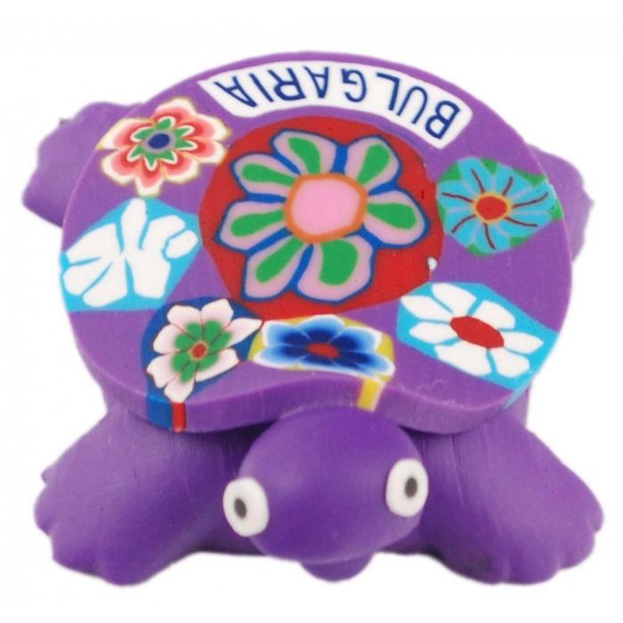 Сувенирна гумена фигурка с магнит - костенурка с надпис България