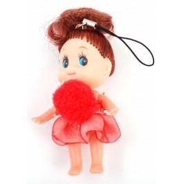 Декоративна фигурка - аксесоар за GSM - кукла с помпон