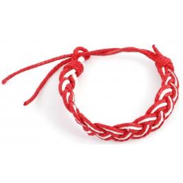 Мартеница плетена гривна - плитка