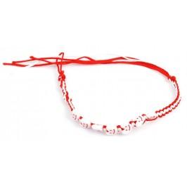 Мартеница плетена гривна с орнаменти - седем сърца с усмивка