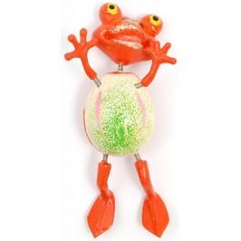 Сувенирна фигурка с магнит - жаба с вратовръзка - 3