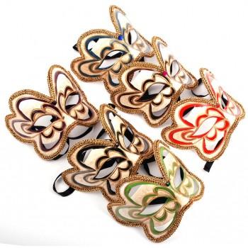 Декоративна маска - тип домино с връзки, украсно с цветен камък