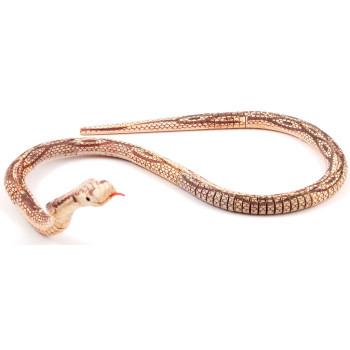 Сувенирна дървена змия - гъвкава - 100см