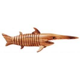 Сувенирна дървена фигурка - риба меч, гъвкава