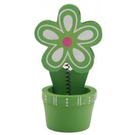 Сувенирна дървена фигурка - цвете щипка за бележки - 9