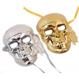 Декоративна стилна маска - тип домино - череп
