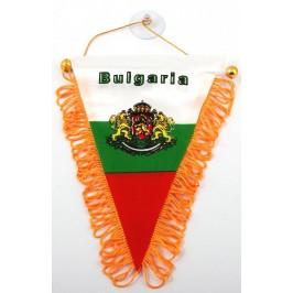 Сувенирен триъгълен флаг с герб на Република България