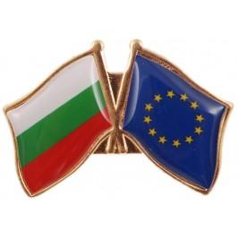 Значка със знамена BG и EU