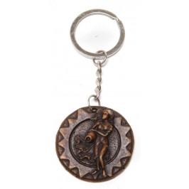 Сувенирен ключодържател - паричка с декорация