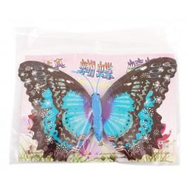 Декоративна фигурка пеперуда с магнит, украсена с брокат
